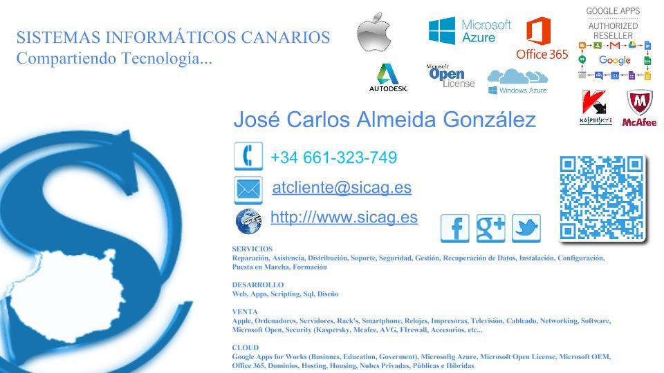SISTEMAS INFORMÁTICOS CANARIOS, Compartiendo Tecnología...